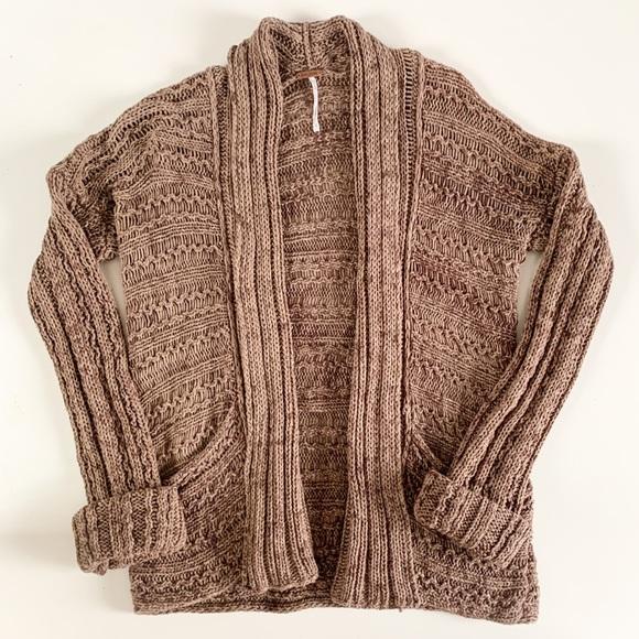 Free People chunky open knit cardigan
